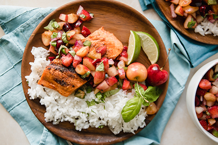 Recipe - Grilled Salmon with Stonefruit Salsa
