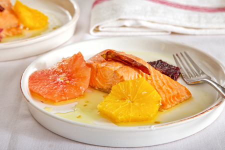 Recipe - Poached Salmon with Citrus